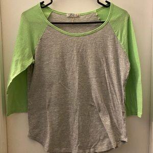 Freebird - Juniors size large 3/4 sleeve T-shirt